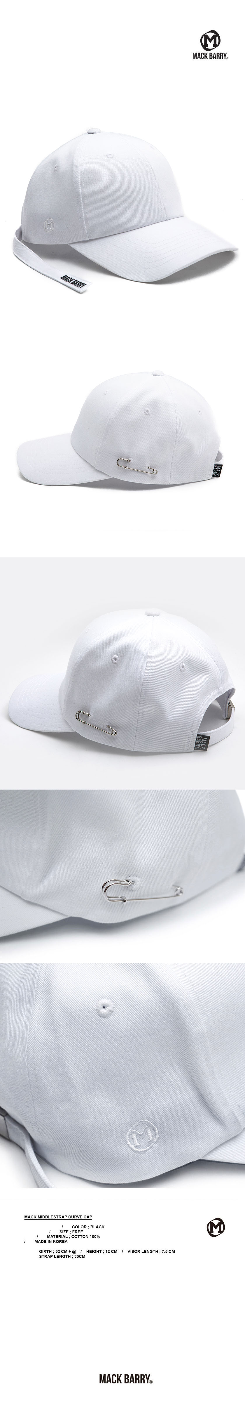 MIDDLESTRAP CURVE CAP WHITE
