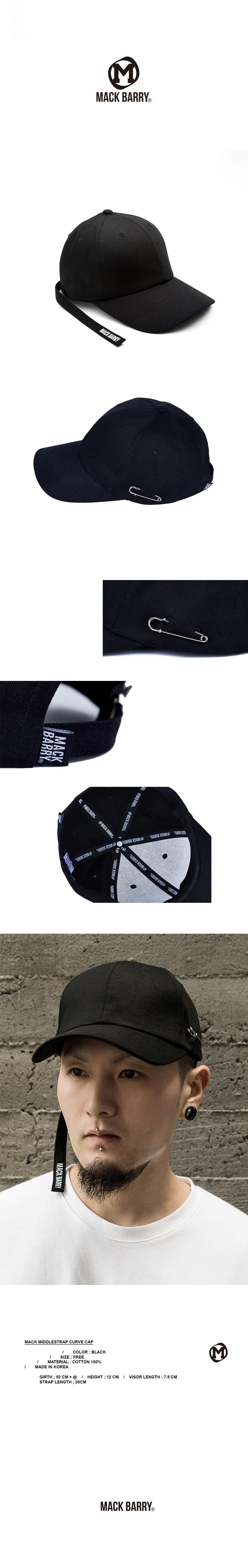 MIDDLESTRAP CURVE CAP BLACK